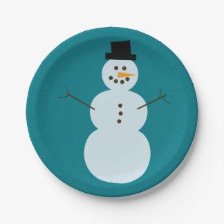 Prato De Papel Esboço do boneco de neve
