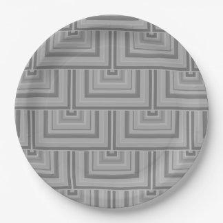Prato De Papel Escalas cinzentas do quadrado