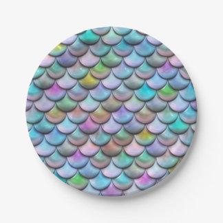 Prato De Papel Escalas coloridas pearlescent lustrosas brilhantes