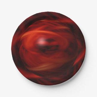 Prato De Papel Esfera do fogo vermelho