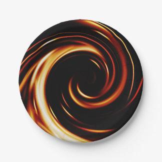 Prato De Papel Espiral líquida dourada