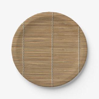 Prato De Papel Esteira de bambu da praia placa de papel de 7
