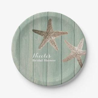 Prato De Papel Estrela do mar dourada & partido elegante de