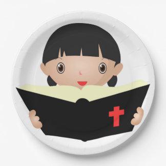 PRATO DE PAPEL ESTUDO DA BÍBLIA