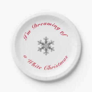 Prato De Papel Eu estou sonhando do White Christmas