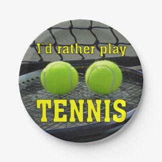 Prato De Papel Eu tênis do jogo da preferencialmente