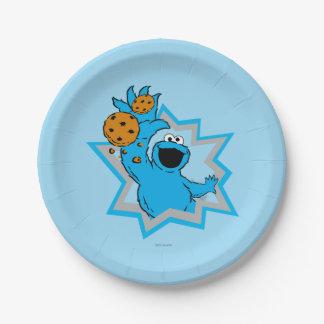 Prato De Papel Extremo do monstro do biscoito