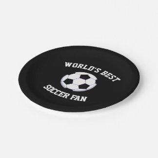 Prato De Papel Fã de futebol do mundo o melhor placa de papel de