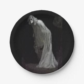 Prato De Papel Fantasma gótico