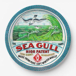 Prato De Papel Farinha alta da patente da gaivota de mar