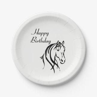 Prato De Papel Festa de aniversário animal do tema do cavalo