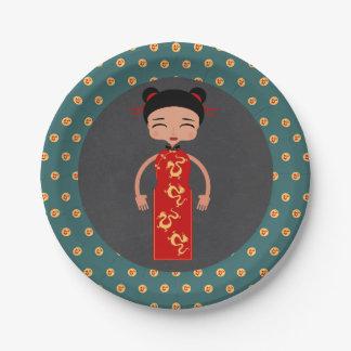 Prato De Papel Festa de aniversário da menina de China