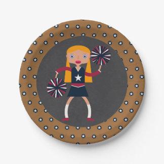 Prato De Papel Festa de aniversário da menina dos Pompoms do