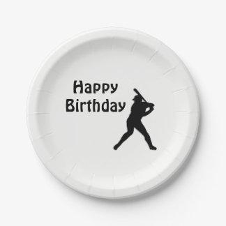 Prato De Papel Festa de aniversário do basebol
