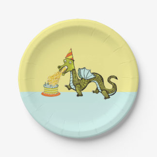 Prato De Papel festa de aniversário do dragão