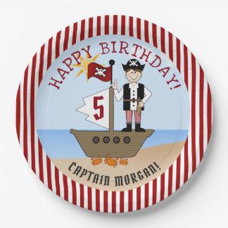 Prato De Papel Festa de aniversário do menino do pirata