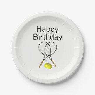 Prato De Papel Festa de aniversário do tênis