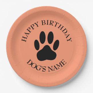 Prato De Papel Festa de aniversário feliz para cães