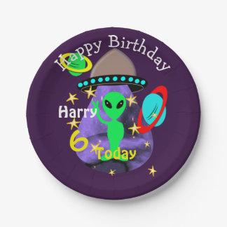 Prato De Papel Festa de aniversário temático bonito da alienígena