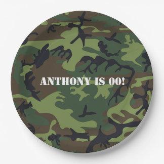 Prato De Papel Festa de aniversário temático do exército