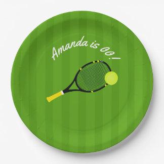 Prato De Papel Festa de aniversário temático do tênis