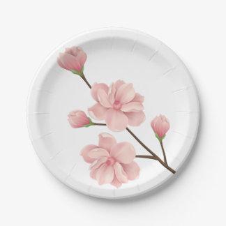 Prato De Papel Festa de casamento floral das flores das flores de