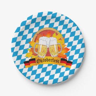 Prato De Papel Festival alemão da cerveja de Oktoberfest