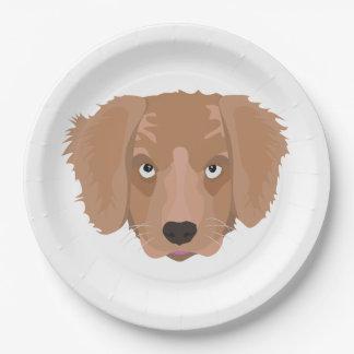 Prato De Papel Filhote de cachorro insolente bonito