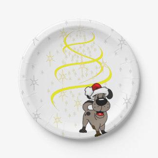 Prato De Papel Filhotes de cachorro do Natal