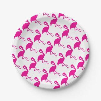 Prato De Papel Flamingo do rosa quente