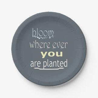 Prato De Papel Flor onde você é plantado nunca