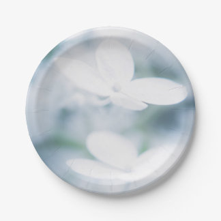 Prato De Papel Flores brancas bonitas
