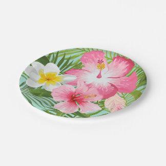 Prato De Papel Flores tropicais