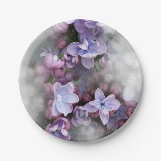 Prato De Papel Florescência do Lilac