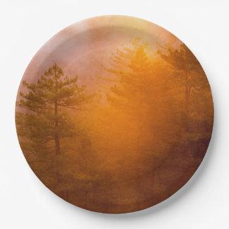 Prato De Papel Floresta dourada da corriola