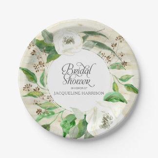 Prato De Papel Folha floral Woodsy boémia do chá de panela BOHO