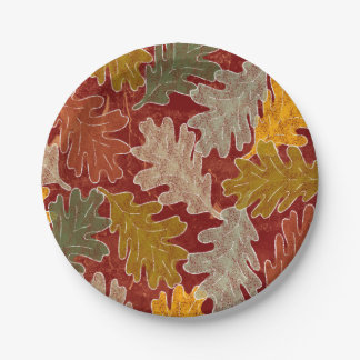 Prato De Papel Folhas do carvalho do outono