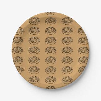 Prato De Papel Fonte do Waffle do dia de Galentine