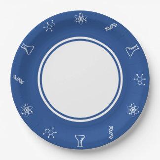 Prato De Papel Forças atrativas na placa de papel azul