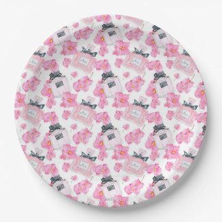 Prato De Papel Forma cor-de-rosa Parfume das flores