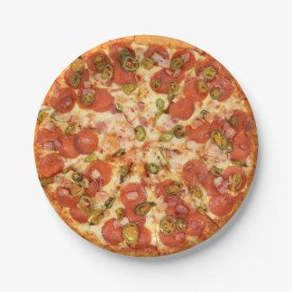 Prato De Papel foto inteira deliciosa do jalapeno dos pepperoni