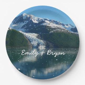 Prato De Papel Fotografia bonita do fiorde II Alaska da faculdade