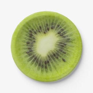 Prato De Papel Fruta de quivi fresca. Close up redondo da fatia