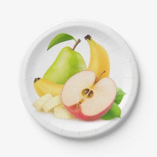 Prato De Papel Frutas frescas