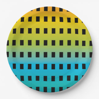 Prato De Papel Fulgor de néon nos 2 fluorescentes coloridos