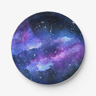Prato De Papel Galáxia
