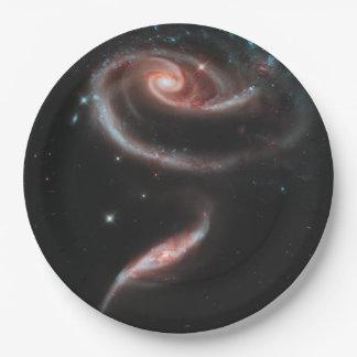 Prato De Papel Galáxia cor-de-rosa