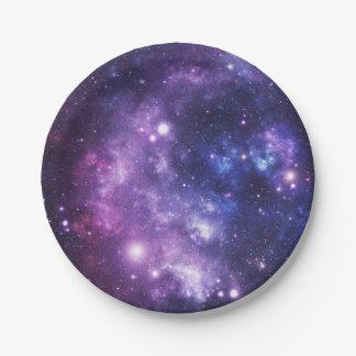 Prato De Papel Galáxia do espaço