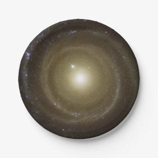 Prato De Papel Galáxia espiral dourada de espaço profundo