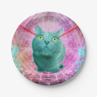Prato De Papel Gato com olhos do laser
